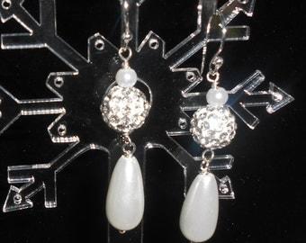 teardrop pearl bridal earrings