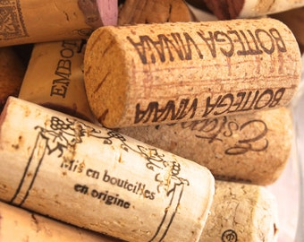 50 Used All Natural Wine Corks for Crafting Projects