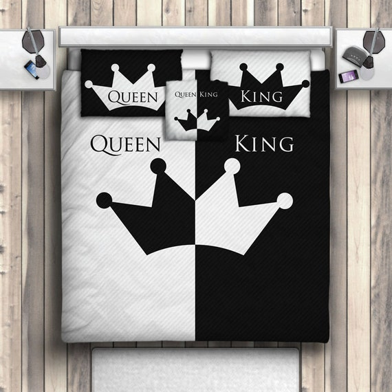 His Hers King Queen Couples Bedding His Hers By Producstbyme