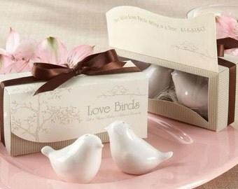 Wedding Favors Love Birds Ceramic Shakers