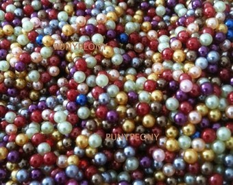100pcs  3mm Pearl Bead Charm For Floating Glass Locket/Bracelets (Pick your color)