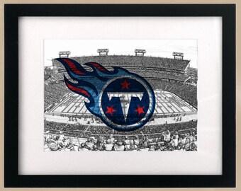 Tennesse Titans StadiumScape Logo Print