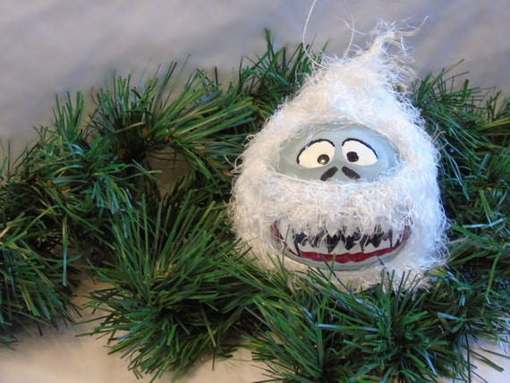 Christmas Ornament Yeti Abominable Snowman Hand Painted
