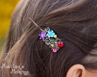 Decorated hair bobby pins