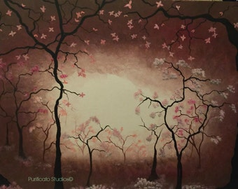 Cherry B. Forest-Original Acrylic Paintings by Danielle Purificato