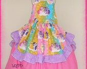 My Little Pony  Dress Rainbow Horse - LQBD Boutique - fits approx 6/7 7/8  Birthday Party Princess