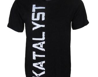 "Katalyst ""Vault"" Men's Black short sleeve crew neck graphic t-shirt"
