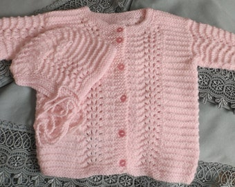 6 months jacket 2 pieces Pink for girl