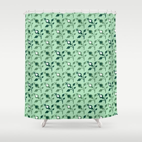 mint shower curtain green shower curtain mint green decor unique