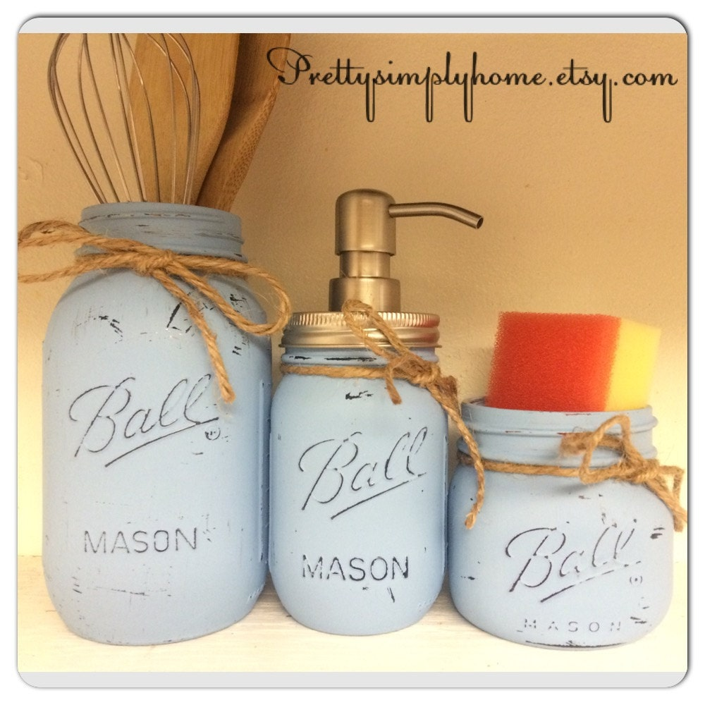 Mason Jar Kitchen: Mason Jar Kitchen Set Kitchen Utensils Kit Farmhouse Decor