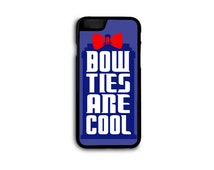 Doctor Who - Bowties Are Cool Tardis Case for iPhone 4/5/5C/6/6+ Samsung S5/S6/S7/Edge in Hard Plastic/Rubber FREE STANDARD SHIPPING*