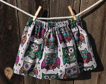 Polka dot owl Whoo loves you skirt