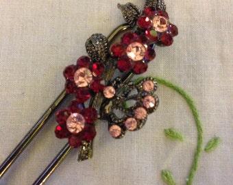 Rhinestone Art Deco Inspired Hair pin