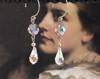 Swarovski crystal dangle earrinings