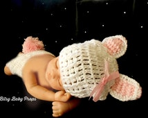 Photography Prop Baby Rabbit Newborn Easter Hat Easter Rabbit Girls Easter Hats Baby Girl Easter Clothes Easter Baby Girl