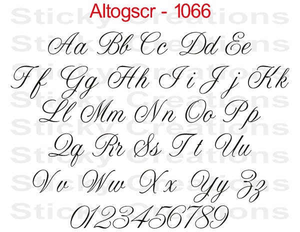 Custom Text Altogscr Font Customized Personalized Letters Name