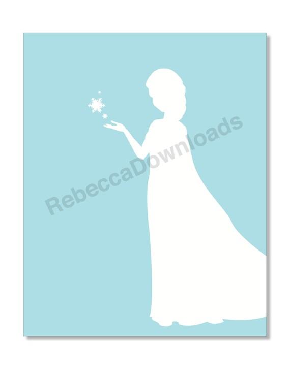 Frozen Silhouette Printables Elsa Frozen Silhouette Light