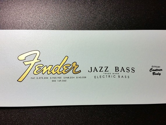 Fender Jazz Bass Decal Pictures To Pin On Pinterest