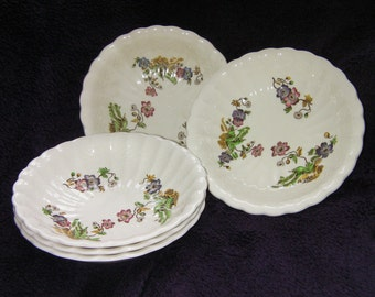 "Vintage, Copeland, Spode, ""Wicker Lane"" Bowls, Collectable."