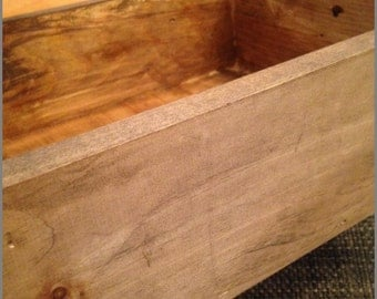 Wooden Box , Decoratice Centerpiece, IndexCard Storage, Desk Storage, In Box, Out Box, Craft Storage, centerpiece