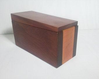 Hand Made Ipe, Maple and Mahogany Box