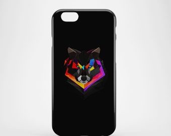 Abstract Wolf Face Phone case,  iPhone X Case, iPhone 8 case,  iPhone 6s,  iPhone 7 Plus, IPhone SE, Galaxy S8 case, Phone cover, SS116a