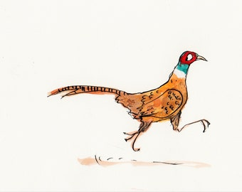 Dashing Pheasant, digital print