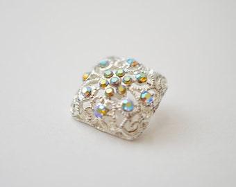 Set of Rhinestone Button Brooch Top Quality Embellishment AB Crystal Wedding Bouquet Brooch