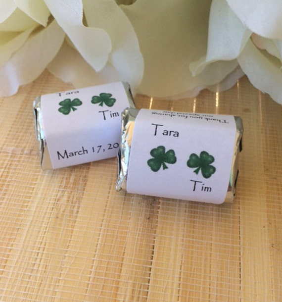 Wedding Gift Baskets Ireland : Irish Wedding Favors, Irish Wedding Gift, four leaf clover, irish ...