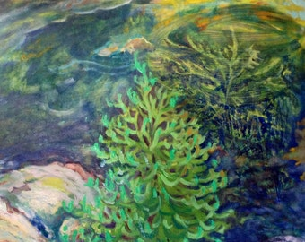 Neige Color E Art Contemporain Paysage Hiver Arbres