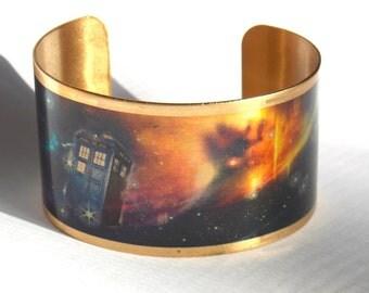 Doctor Who Cuff --Cosmic TARDIS Bracelet