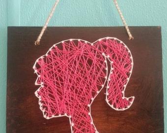 Barbie sillhouette string art