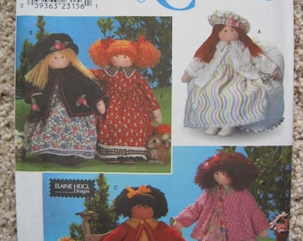 """UNCUT 26"""" Doll And Clothes - Dress, Jacket, Hat - Simplicity Pattern 8835"""