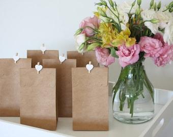 12 Brown Kraft Scalloped Goody Favour Bags (Australia)