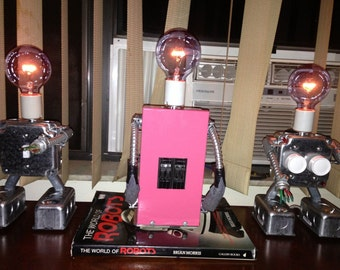 Trixie  The painted lady lamp and she's no lady  Industrial Punk table lamp
