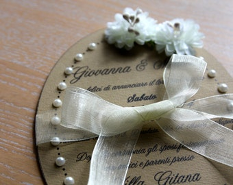 Wedding romantic involvement with beads