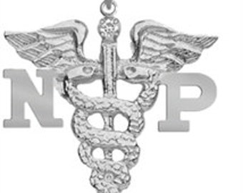 Nurse Practitioner NP Charm in Silver | Graduation Gift