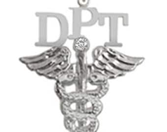 DPT Nursing Charm Silver | Doctor of Physical Therapy Graduation