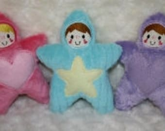 Minky Star Babies Embroidery Machine Designs for the 5x7, 6x10 and 8x12 hoops