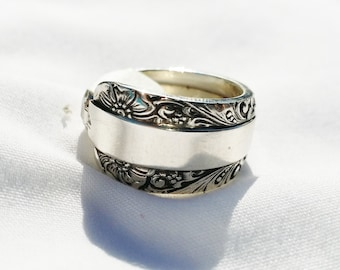Beautiful Antique Silverware Ring