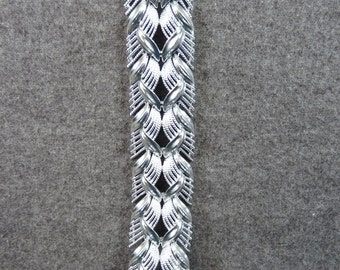 Vintage Signed Coro Silvertone Bracelet