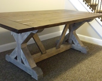 farmhouse trestle table legs x frame table legs wood table. Black Bedroom Furniture Sets. Home Design Ideas