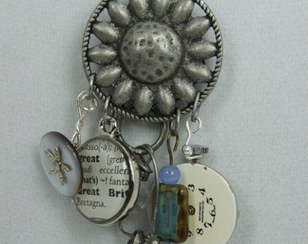 Sunflower Found Items Necklace