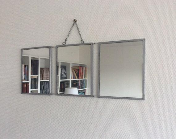 Petit miroir de barbier triptyque ann es 50 for Miroir annees 50