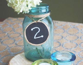 Wood Slice Labels-Table Numbers