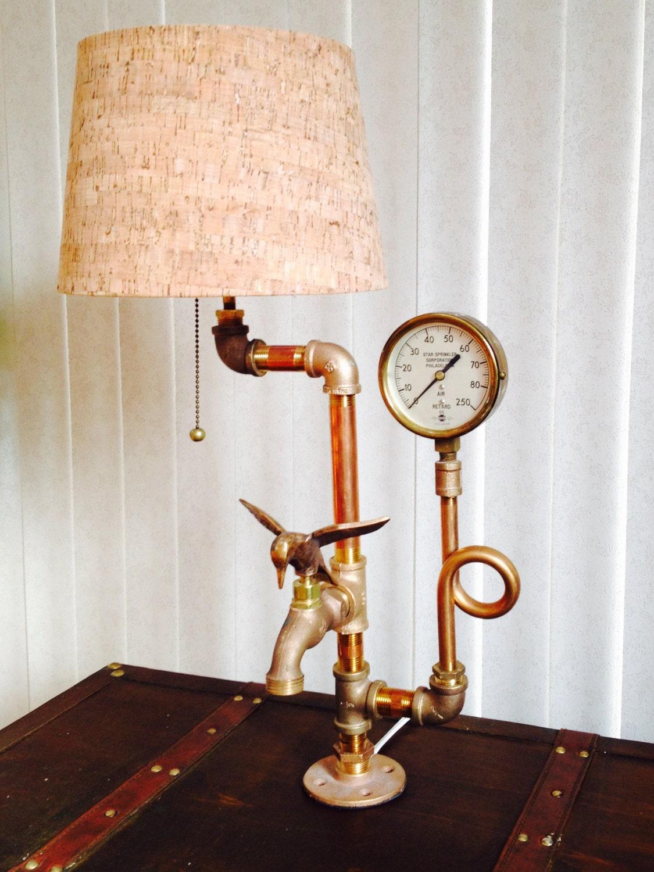 Steampunk Lamp Industrial Lamp Desk Lamp Unique Lamp