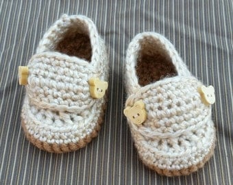 Baby boy crochet slippers crochet baby moccasins baby loafers handmade baby gift photo prop