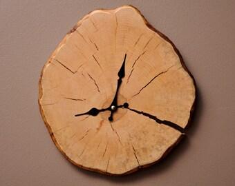 Wooden Wall Clock Log