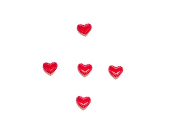 kids buttons , plastic buttons , red , hearts