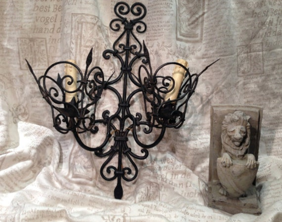 Wall Sconce / Wall Light Large Vintage Gothic Iron Hand